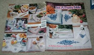 Cross stitch patterns for placemats /& napkins from American School of Needlework
