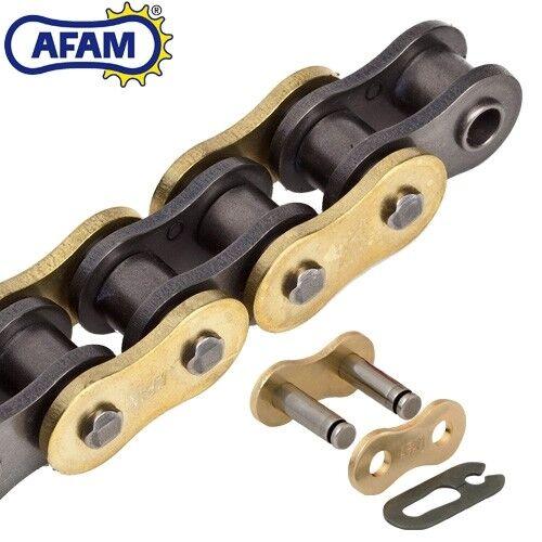 AFAM Kette KTM SX125 Bj.2013  Rollenkette 520MR2-G gold//schwarz Clip