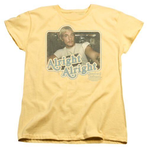 Dazed /& Confused Movie McConaughey ALRIGHT ALRIGHT Women/'s T-Shirt All Sizes