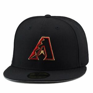 New Era Arizona Diamondbacks Fitted Hat All Cardinal Red//Snake w// Gold Outline