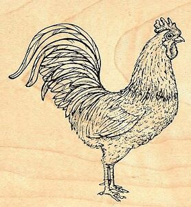 Image Is Loading Rooster Wood Mounted Rubber Stamp JUDIKINS 3338G New