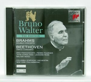BRUNO-WALTER-BRAHMS-double-concerto-BEETHOVEN-triple-concerto-SONY-CD-NM