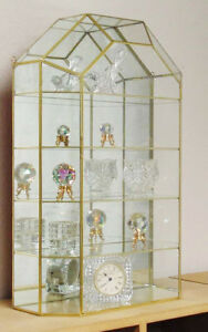 Image Is Loading New Cathedral Style Top Horizontal Shelf Gl Curio