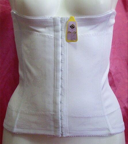 new BONE waist CINCHER shaper CORSET faja WHITE Large L blanco shaperwear