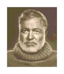 Sepia-Writer-Ernest-Hemingway-DIGITAL-Counted-Cross-Stitch-Pattern-Needlepoint