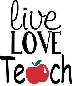 Custom Vinyl Decal Live Love Teach Teacher Apple Appreciation - Custom vinyl decals near me