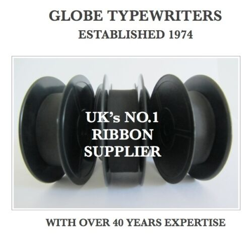 3 x /'ADLER/' *BLACK* TYPEWRITER RIBBONS FOR MANUAL MACHINES *TOP QUALITY* 10 MTR