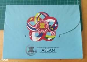 Malaysia ASEAN Community 2015 Premium 10 countries joint issue stamps Folder MNH