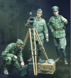 1-35-Resin-Figure-Model-Kit-GERMAN-3-FIGURES-WITH-device-WWII-WW2-Unpainted