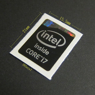 Haswell Extreme Refresh Version Intel Core i7 Sticker 15.5mm x 21mm