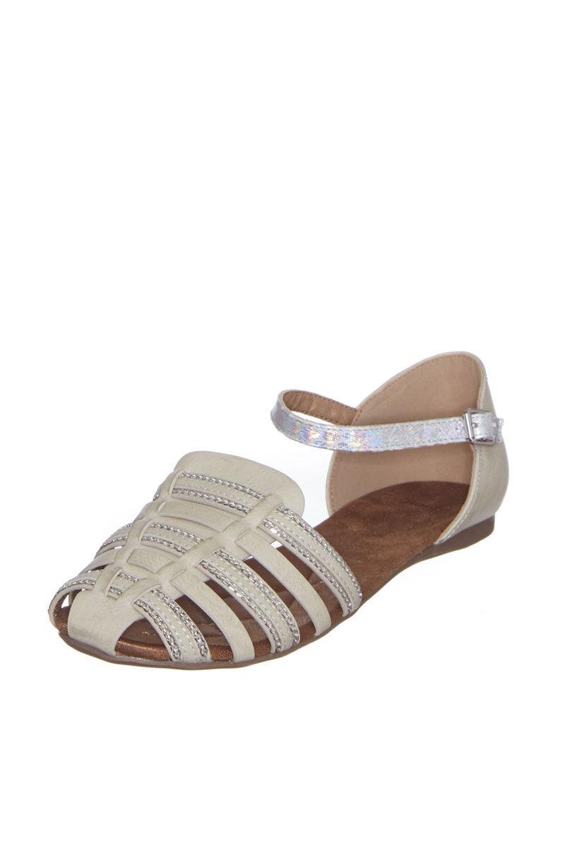 sandales taupe et argent femme T 37 BATA tbe