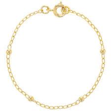 """18k Gold Plated Thin Chain Ball Bracelet Girls Kids Infants Children 5.5"""""""