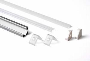 Set-Profilo-Alluminio-LED-1818-Angolare-45gradi-Completo-tappi-cover-e-ganci