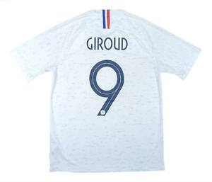 FRANCIA 2018-20 Authentic AWAY SHIRT Giroud #9 (eccellente) M SOCCER JERSEY