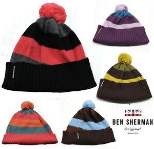Ben-Shermans-Unisex-Angora-Bobble-Beanie-Hats-Mens-Womens-Warm-Winter-Hats