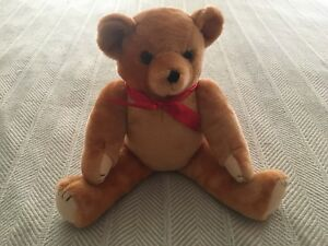 Classic mohair teddy bear Bear toy Collectible toy Gold Bear Teddy bear Collectible classic stuffed teddy bear Stuffed teddy bear