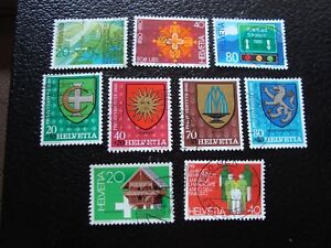 Switzerland-Stamp-Yvert-and-Tellier-N-1114-A-1122-Obl-A3-Z