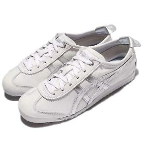 meet 24dac 58e21 Image is loading Asics-Onitsuka-Tiger-Mexico-66-White-Silver-Leather-