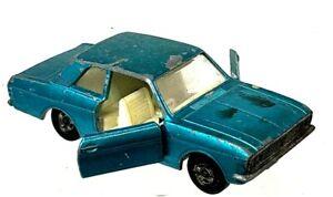 Vintage Matchbox Lesney Superfast Nº 25 Ford Cortina Azul Carro Portas de abertura