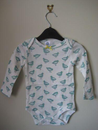 Nouveau Ex Bébé Boden body gilet haut en jersey imprimé oiseaux couleurs 3 Façons