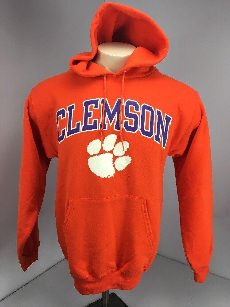 NWOT Champion Clemson Tigers Warrior Orange L/S Hoodie Sweatshirt Warm Cozy Sz S