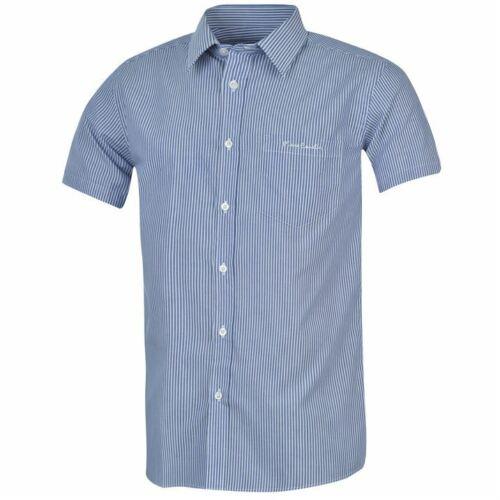 Pierre Cardin Men Gents Short Sleeve Linen Shirt Button Fastening sale 4XL S
