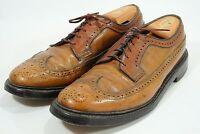 Florsheim Imperial 5 Nail V-Cleat Mens Wingtip Longwing Shoes Vintage Brown 10 D