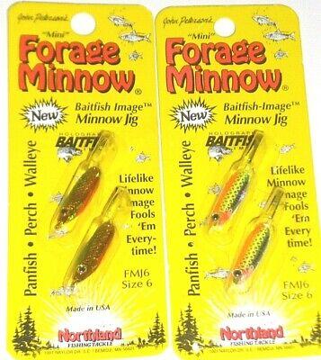 2 per pack Lot of 6 Northland Tackle Mimic Minnow Baitfish Image 6 packs