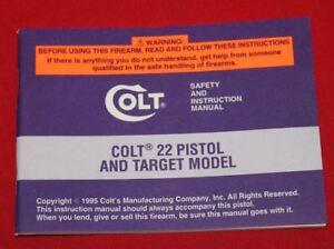 COLT-Firearms-Factory-Cadet-22-Manual-Original-1995