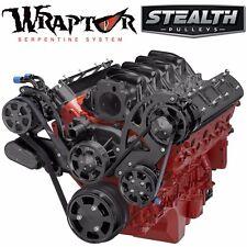 Black Chevy LS Serpentine Pulley Kit - AC & Power Steering - LS1 LS2 LS3 LS6