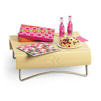 American Girl My Ag Fun & Games Table For 18 Dolls Checkers Furniture Food