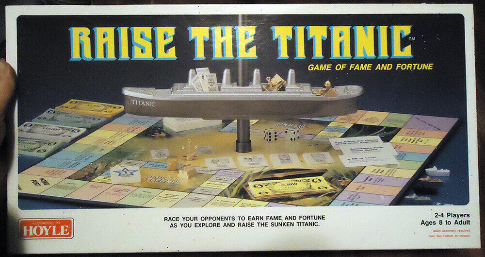RAISE THE TITANIC GAME OF FAME & FORTUNE HOYLE 1987 Board Game  7837 Complete