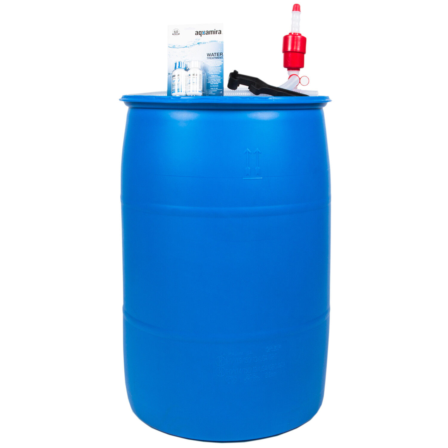 55 Gallon Water Barrel BPA Free Emergency Storage Supply Water Treatment Kit