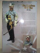 SIDESHOW 12 INCH CIVIL WAR CONFEDERATE ARMY CAVALRY GENERAL J.E.B. STUART MIB
