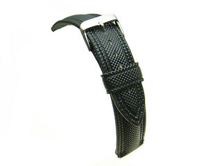Black-water-resistant-divers-silicon-watch-strap-18mm-20mm-22mm