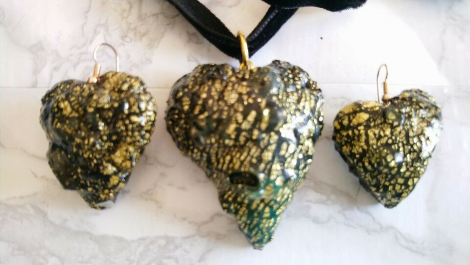 Halskæde, andet materiale, sæt smykker