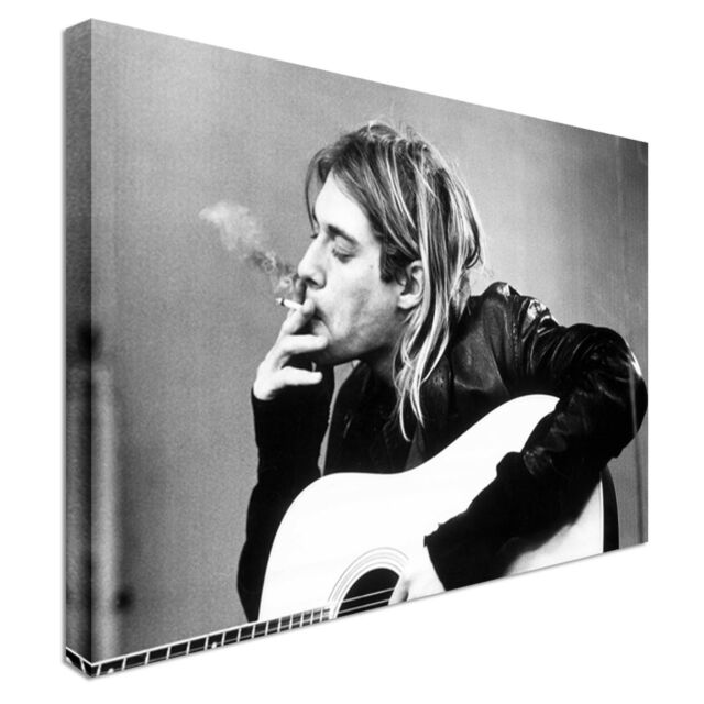 Nirvana Cobain singer music pop Canvas Wall Art Print Large + Any Size