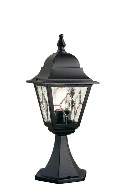 Traditional Leaded Glass Pillar Light 50cm