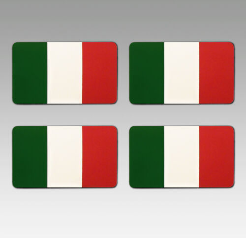 voiture ou moto 4 sticker set-ITALIE ITALIA drapeau