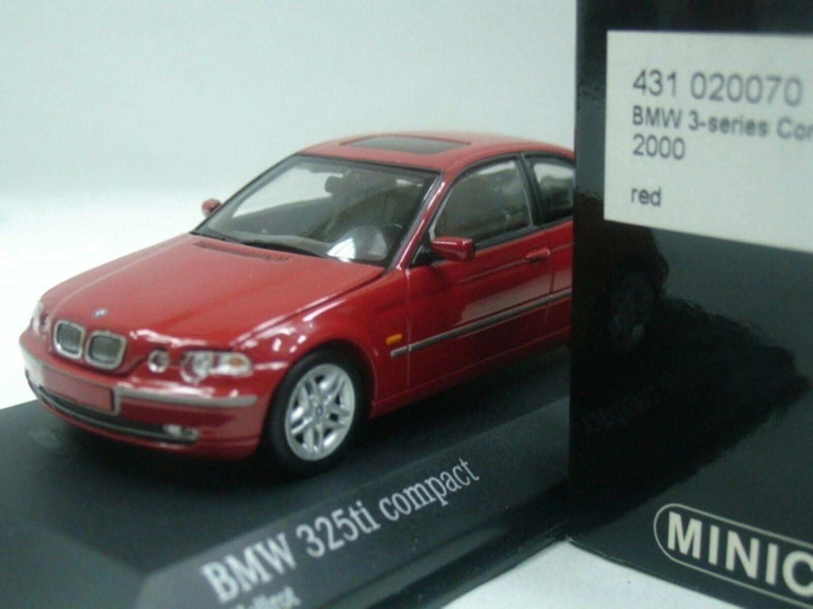 WOW estremamente raro BMW E46 325ti Compact 2.5L 24V 2000 Rosso 1 43 MinichampsGTR