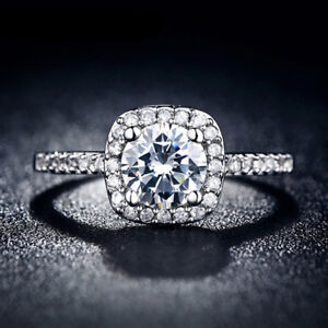 925-Sterling-Silver-Womens-Fashion-Jewelry-Crystal-Wedding-Engagement-Ring