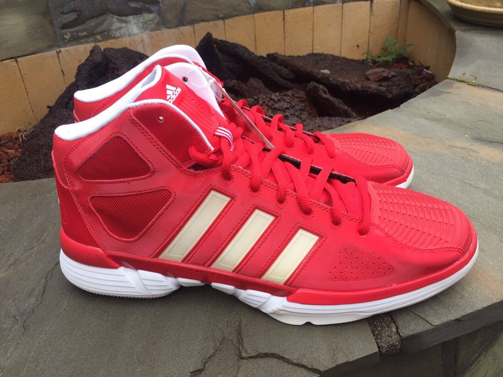 NWT Men's Adidas Basketball AS SMU PRO MODEL 0 RED and White Comfortable Cheap women's shoes women's shoes