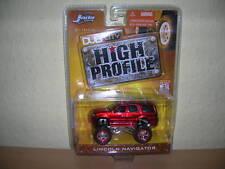Jada Toys Dub City Lincoln Navigator Metallic rot red High Profile, 1:64