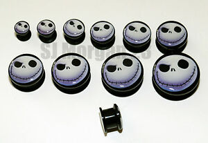 Nightmare-Before-Christmas-Ear-Ring-Plug-Stretcher-6-8-10-12-14-16-18-20-22-25