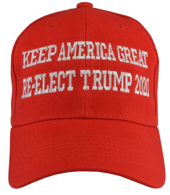 FreeSh Donald Trump KEEP AMERICA GREAT Re-Elect Trump 2020 Red Embroidered hat