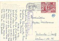 CITTA' DEL VATICANO: STORIA POSTALE-CALCEDONIA 35 LIRE SU CART.POST. IN TARIFFA