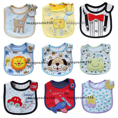Baby Boy Girl Newborn Infant Bibs Waterproof Saliva Towel Bib Feeding Bandana