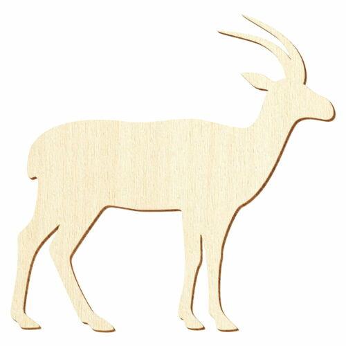 3-50cm Breite Basteln Deko Holz Antilope