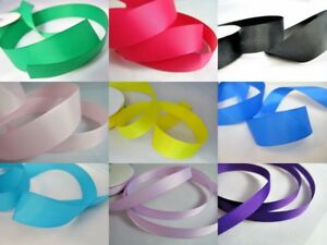 25m-Grosgrain-ribbon-10mm-25mm-wedding-crafts-hair-bows-over-20-colours
