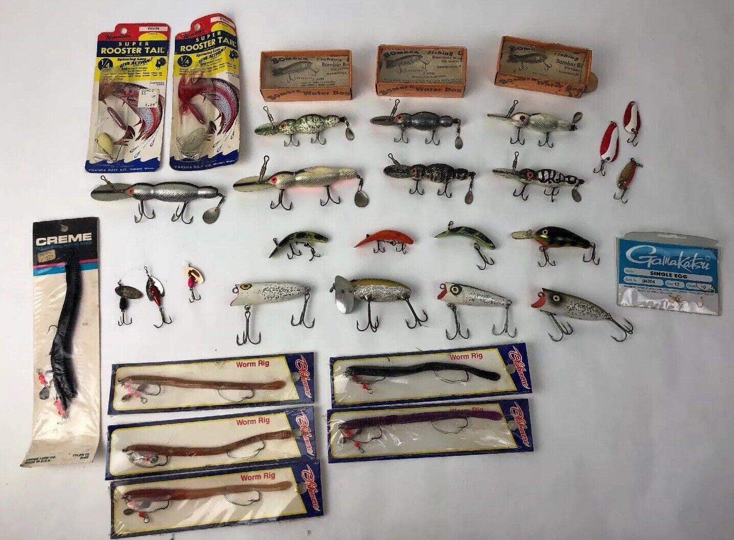HUGE Lot of 30 Vintage Fishing Lures Bomber Water Dog   Rapala Luhr Jensen Heddon  save up to 50%
